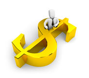Businessman and dollar sign Stock Image