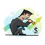 Businessman and dollar sign Stock Photos