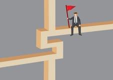 Businessman on Dollar Sign Cartoon Illustration Stock Image