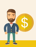 Businessman with dollar sign. Stock Image