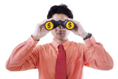 Businessman dollar vision Stock Images