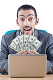 Businessman with  dollars Royalty Free Stock Photo