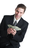 The businessman and dollars Stock Photo