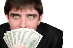 Businessman with dollars money Stock Image