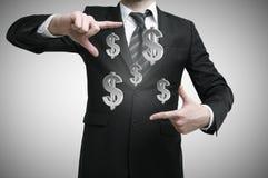 Businessman with dollars symbol Stock Photo