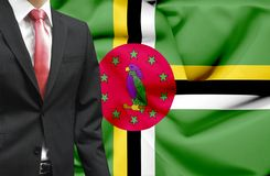 Businessman from Dominica conceptual image royalty free stock photos