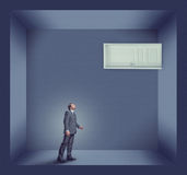 Businessman and the door Royalty Free Stock Images