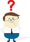 Businessman doubt cartoon Stock Image