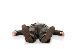 businessman down laying suit Arkivbilder