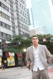 Businessman at Downtown Miami Stock Image