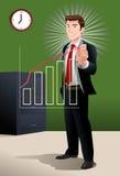 Businessman draw ascending profit Royalty Free Stock Photo