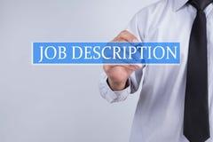 Businessman draw job description concept Royalty Free Stock Photography