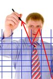 Businessman is drawing Stock Images