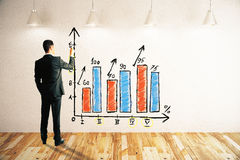 Businessman drawing business chart Stock Photography