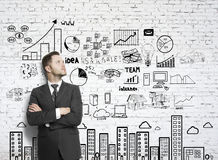 Businessman and drawing business concept Royalty Free Stock Photography