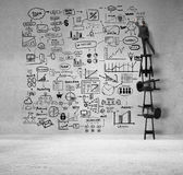 Businessman drawing business concept Stock Photo