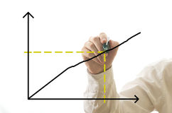 Businessman drawing chart Royalty Free Stock Photography