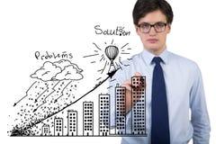 Businessman drawing chart Royalty Free Stock Photo