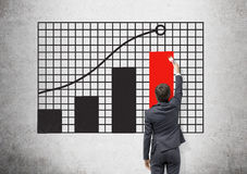 Businessman drawing chart Stock Images