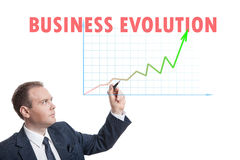 Businessman drawing chart Royalty Free Stock Images
