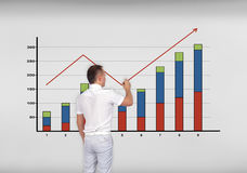 Businessman drawing chart Stock Photography