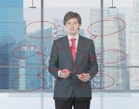 Businessman drawing cloud chart Royalty Free Stock Photo