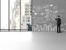 Businessman drawing concept Stock Photography