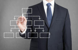 Businessman drawing diagram Royalty Free Stock Images