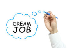 Businessman drawing dream job concept Stock Image