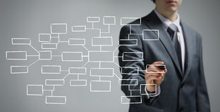 Businessman drawing an empty diagram Royalty Free Stock Photo