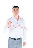 Businessman drawing a graph Royalty Free Stock Image