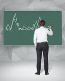 Businessman drawing graph Stock Images