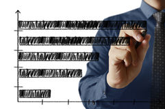Businessman drawing graphics Royalty Free Stock Image