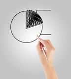 Businessman drawing graphics  growing graph Royalty Free Stock Photography
