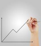 Businessman drawing graphics  growing graph Stock Photos
