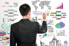 Businessman drawing modern business concept Royalty Free Stock Image