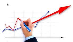 Businessman drawing an organization Stock Image