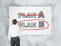 Businessman drawing plan B Stock Photos