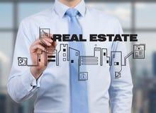 Businessman drawing real estate Stock Image