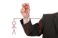 Businessman drawing social network Royalty Free Stock Photos