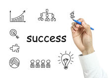 Businessman drawing success concept Royalty Free Stock Photo