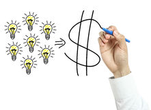 Businessman drawing success concept Stock Photography