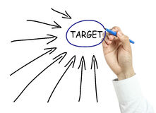 Businessman drawing target concept Stock Image