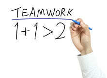 Businessman drawing teamwork concept Stock Images