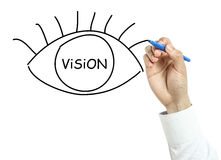 Businessman drawing Vision concept Stock Photo