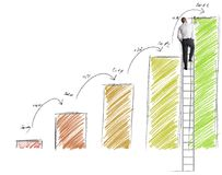 Prevision of statistics Royalty Free Stock Image
