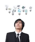 Businessman dream Stock Image