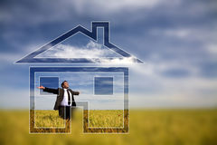 Businessman - dream house Stock Image