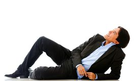 Businessman dreaming Stock Images
