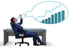 The businessman dreaming of economy and market recovery growth Royalty Free Stock Images